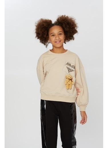 Little Star Little Star Kız Çocuk Baskılı Sweatshirt Taş
